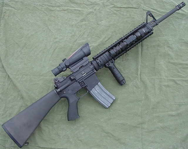Competition Arms AK-47 and M-16 - Easy to Share M16 Acog