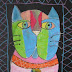 Laurel Burch Cat Faces