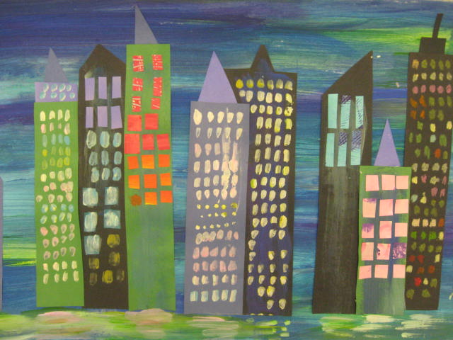Marymaking eric carle inspired cityscapes for Eric carle mural