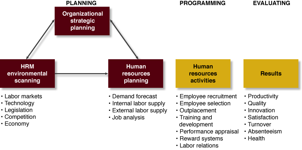 human resource management planning process