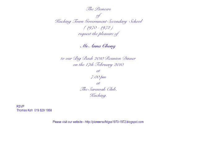 Pioneers of ktgss 1970 1972 friends invitation cards to our invitation cards to our special guests our teachers stopboris Gallery