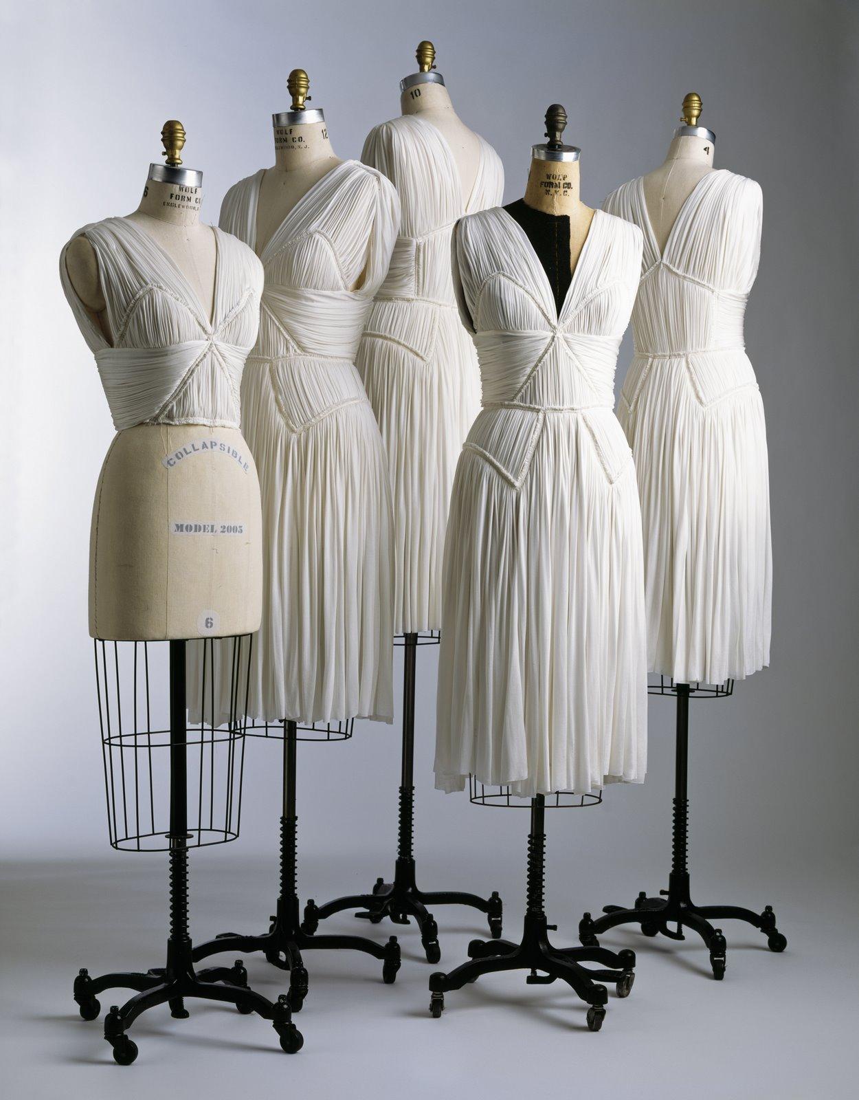 Diamond draped bodice dresses finished and unfinished fall 2005