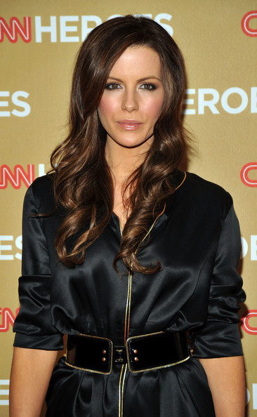 Kate Beckinsale Brown Wavy Hairstyles for 2009