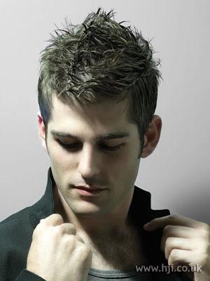 2009 Men's messy hairstyles.