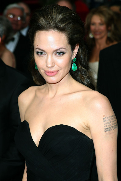 Angelina Jolie''s Hairstyles. It could be seen with a square face of