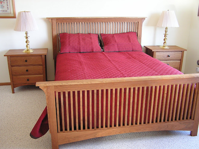 Cherry Bed and night stands