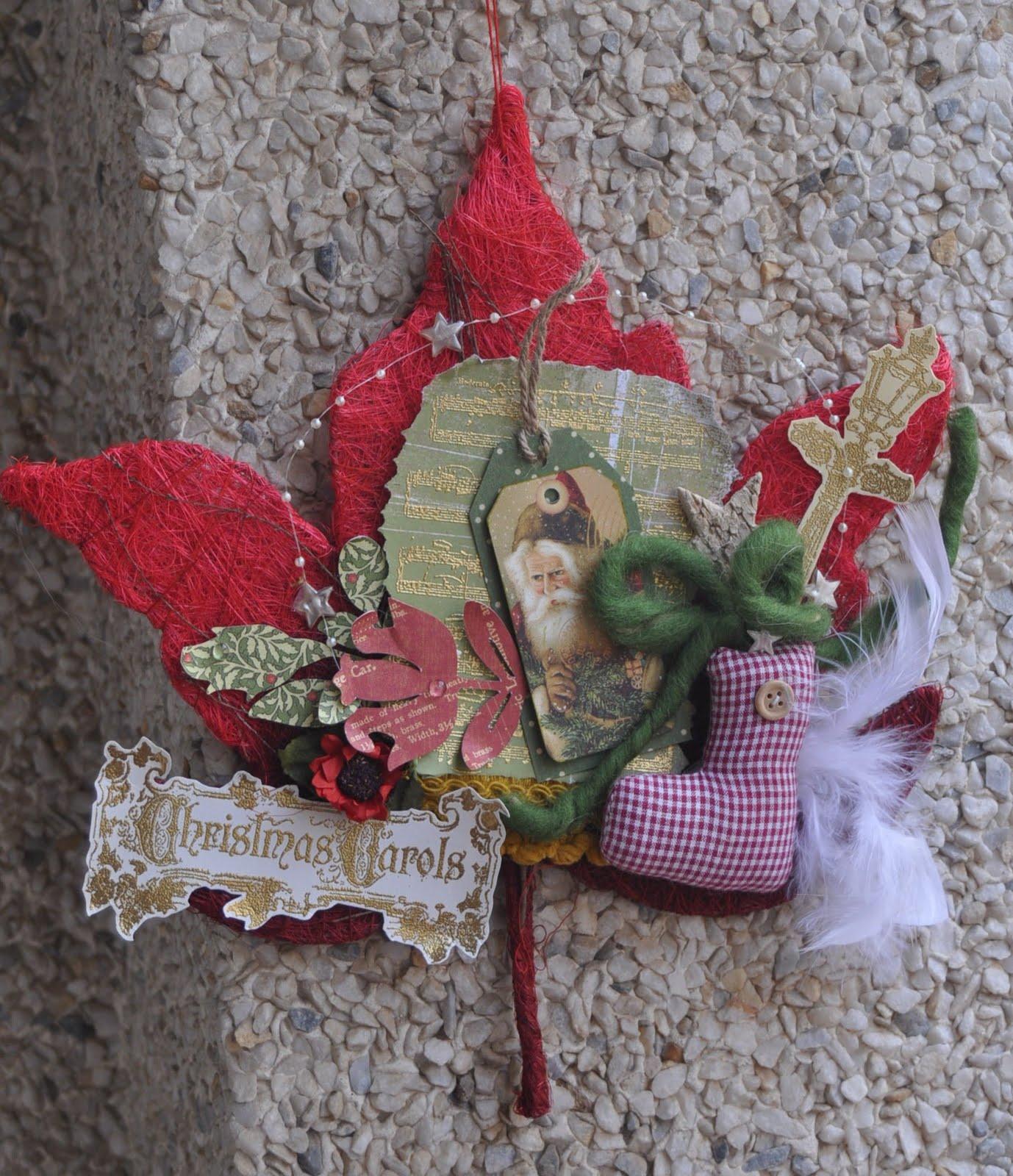 Mis momentos en papel coronas de navidad hechas a mano for Coronas de navidad hechas a mano