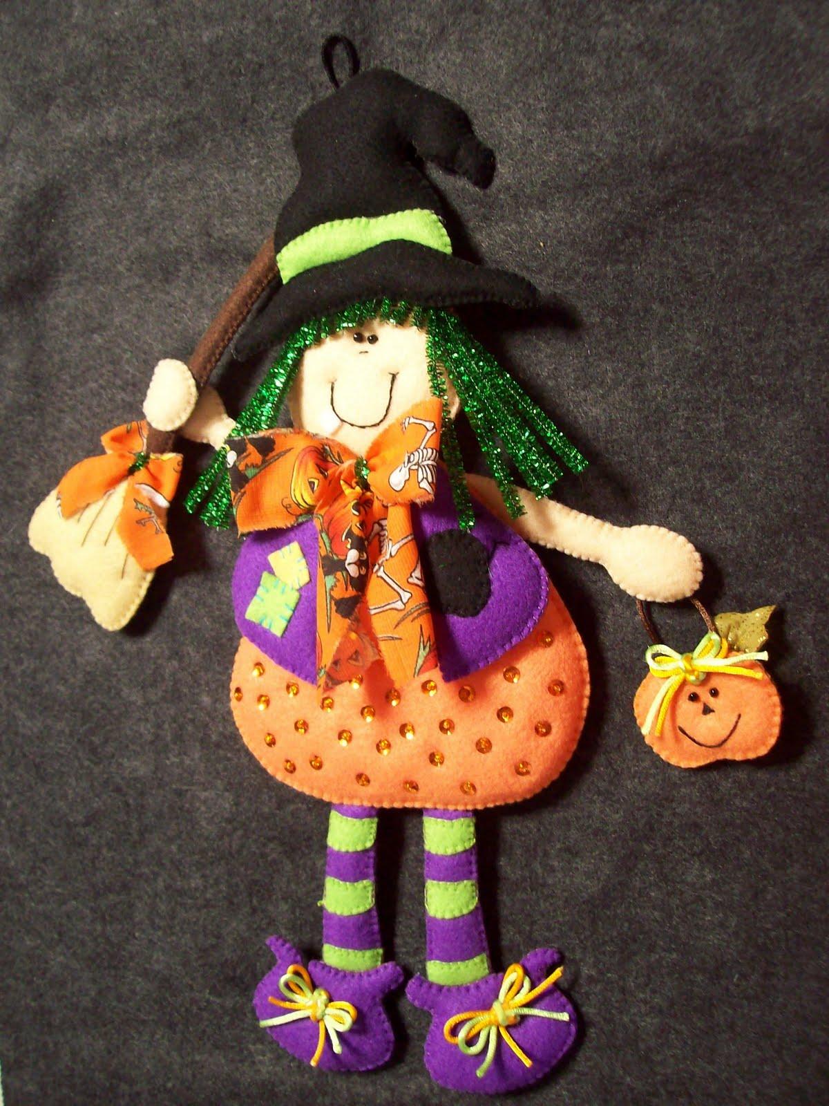 Shexeldetallitos blog de manualidades brujita para halloween - Adornos para halloween ...
