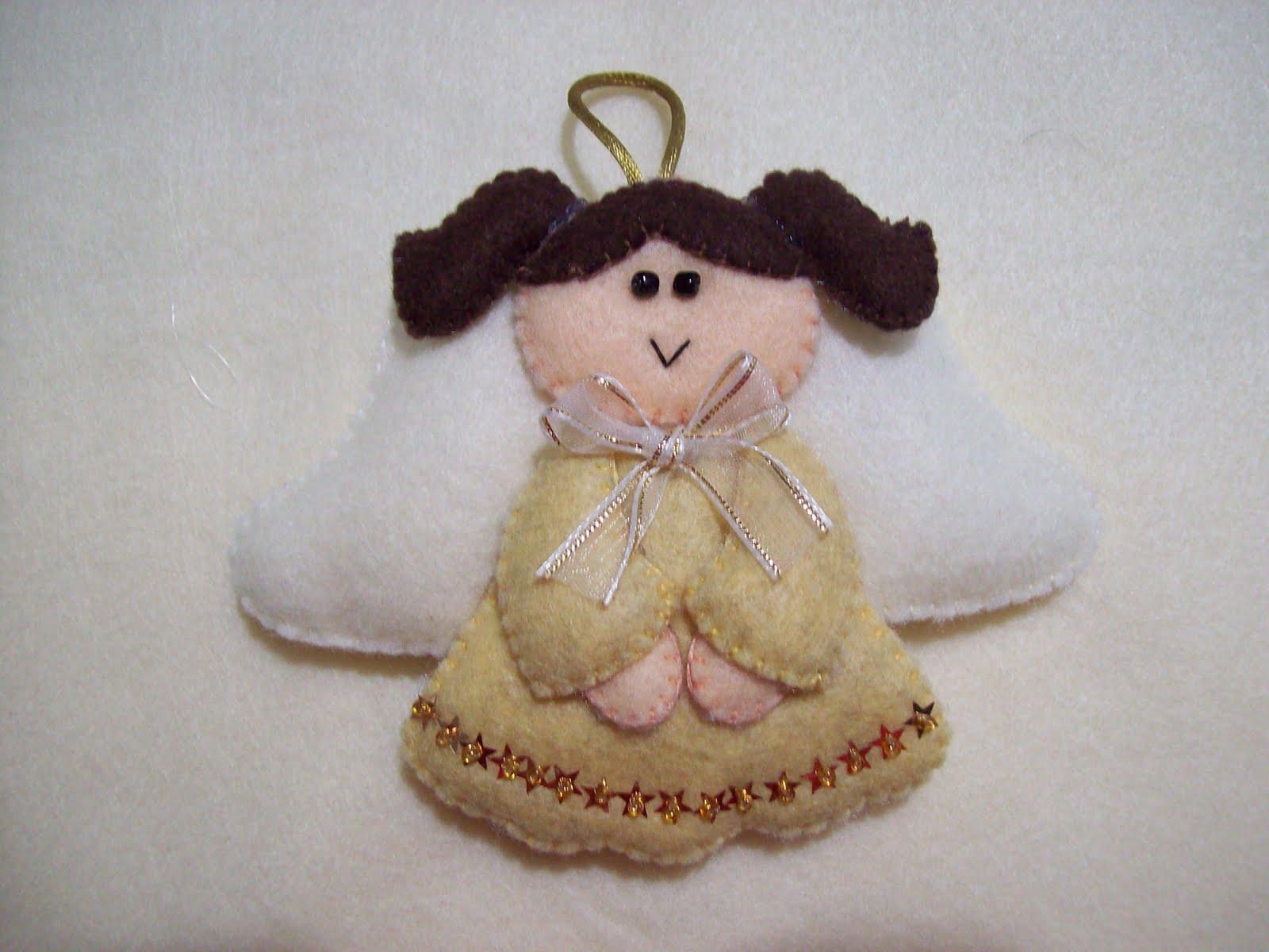 Shexeldetallitos blog de manualidades adornos de angelitos de fieltro para arbol de navidad - Manualidades en fieltro para navidad ...