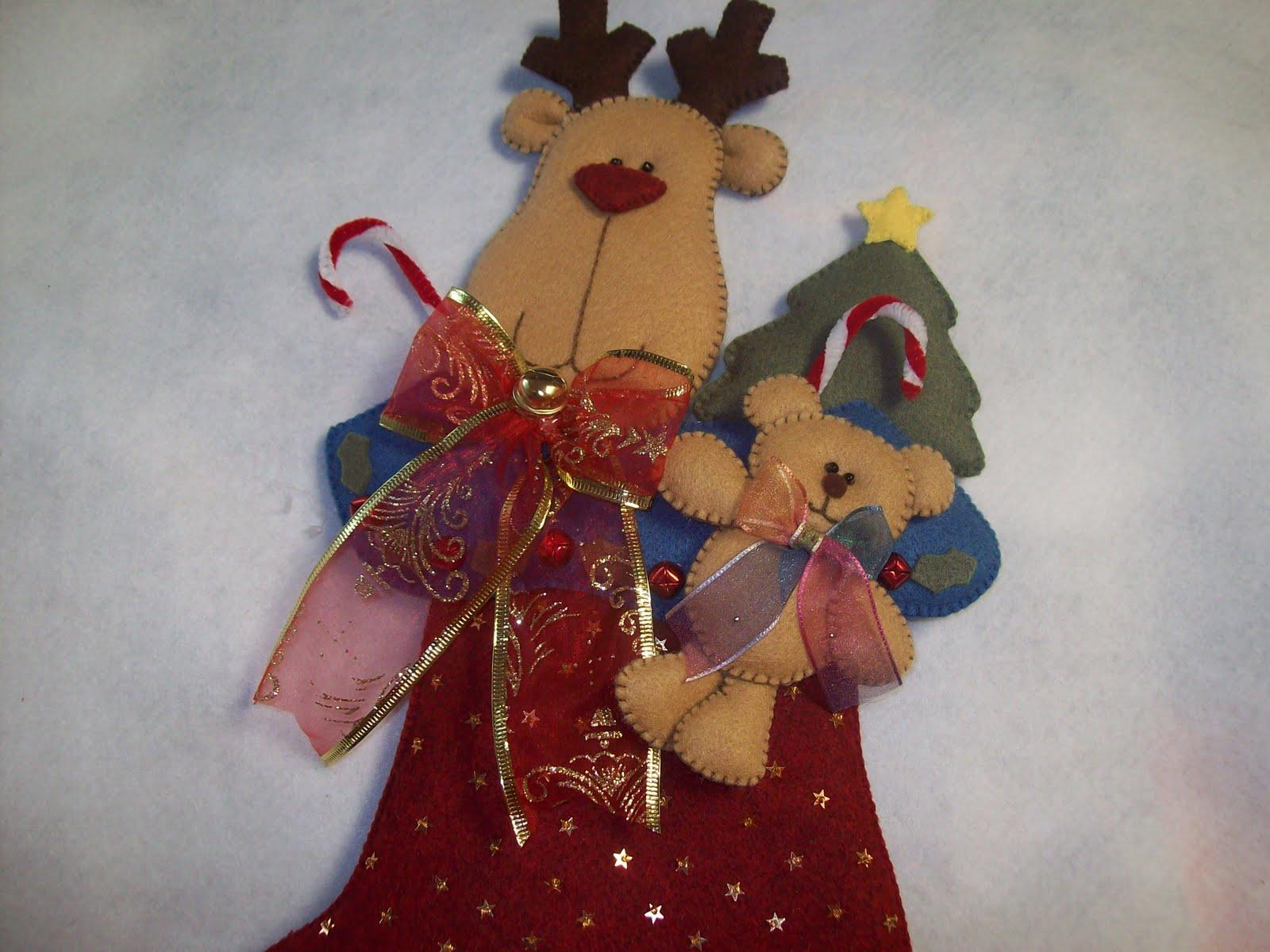 shexeldetallitos blog de manualidades bota con reno y On manualidades renos navideños