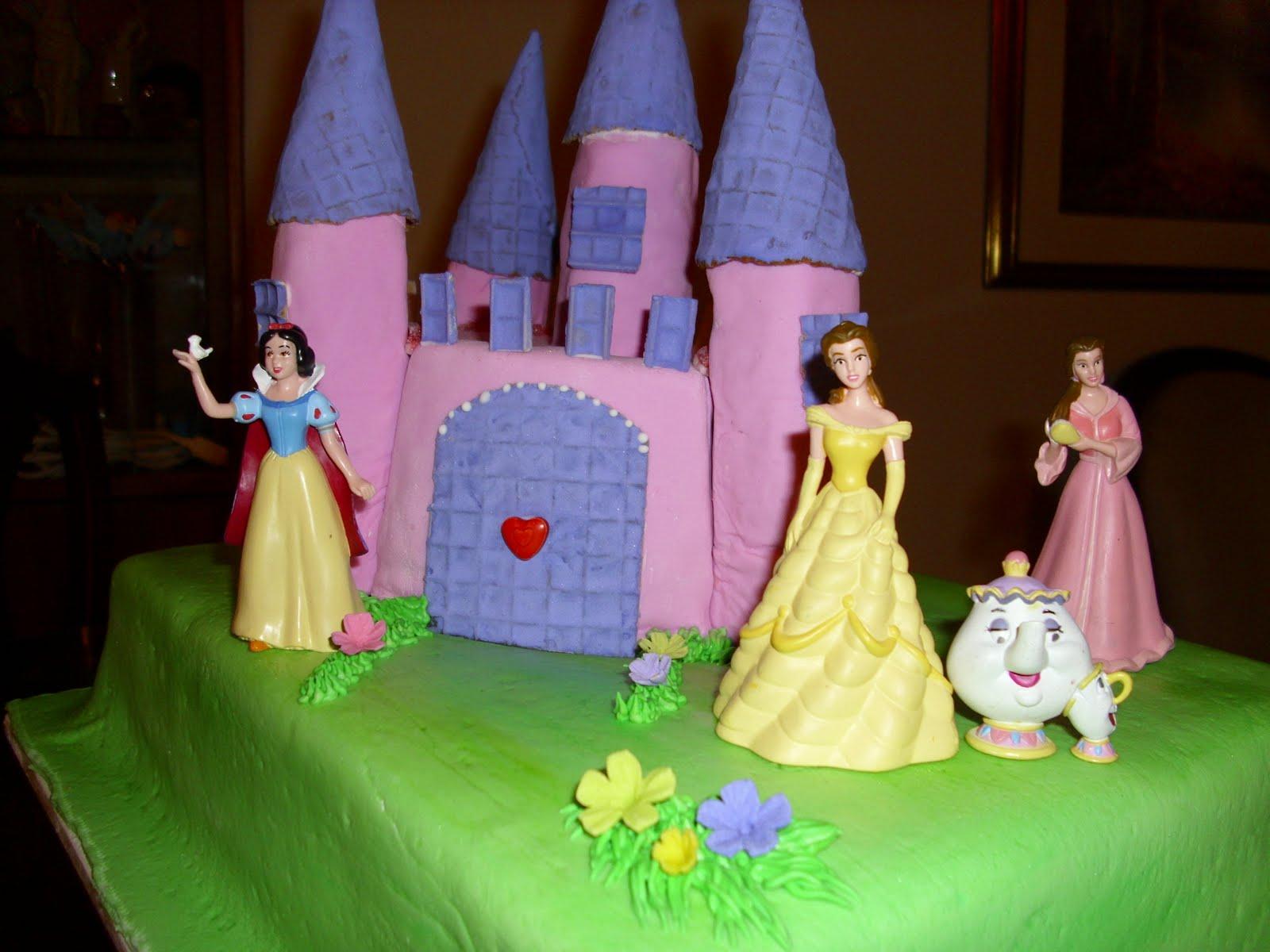 ... torta de celebración de cumpleaños, con el motivo de PRINCESAS como