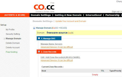 Manage domain co.cc