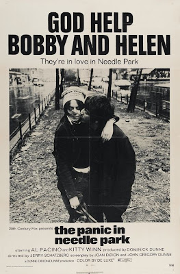 The panic in Needle Park theatrical poster - God help Bobby and Helen