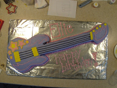 Hannah Montana Guitar Cake. This was for my niece's birthday party!