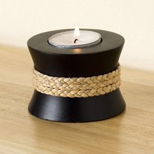 Brown Tealight - Rope Design