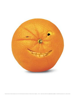 redneck orange with evil grin