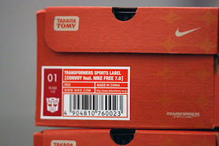 transformer shoes in box - autobot optimus prime
