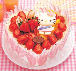 Hello Kitty strawberry cake