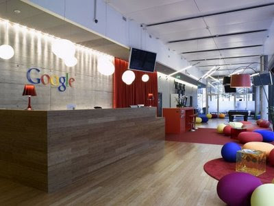Google office front desk.