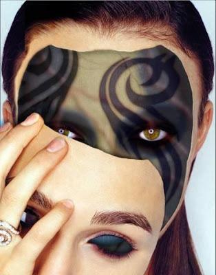 evil face mask