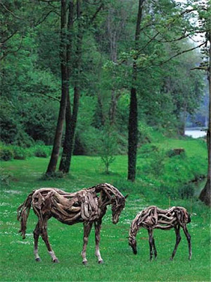 horses gazing at the grass field