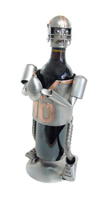 metal sculpture in bottle holder