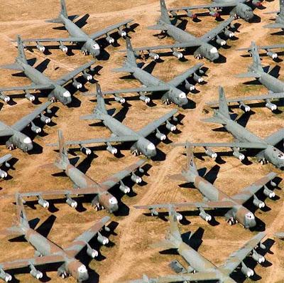 broken military jet in Arizona Desert