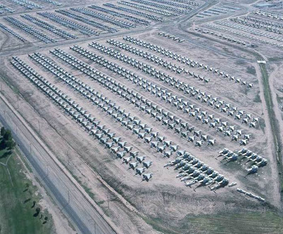 Davis Monthan Air Force Base has largest boneyard