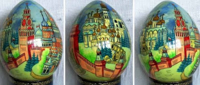 fantasy building in eggshell