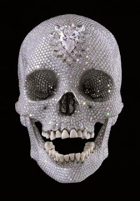 finish art of work - 50 million pound worth of diamond over the skull