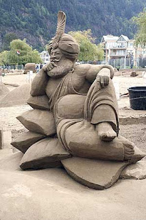 sculpturing sand is not easy as engraving the stone