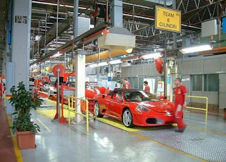 ferrari car was made in this exclusive working space of ferarri factory