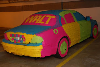 walt car with post it note