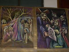8.  Las mujeres de Jerusalén lloran por Jesús.