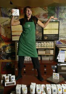 Overly Happy Line Greeter/Order Taker