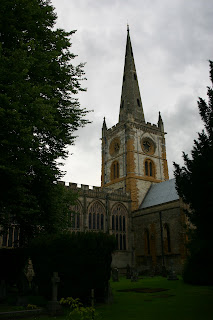 Holy Trinity Church in Stratford, burial place of William Shakespeare and his family.