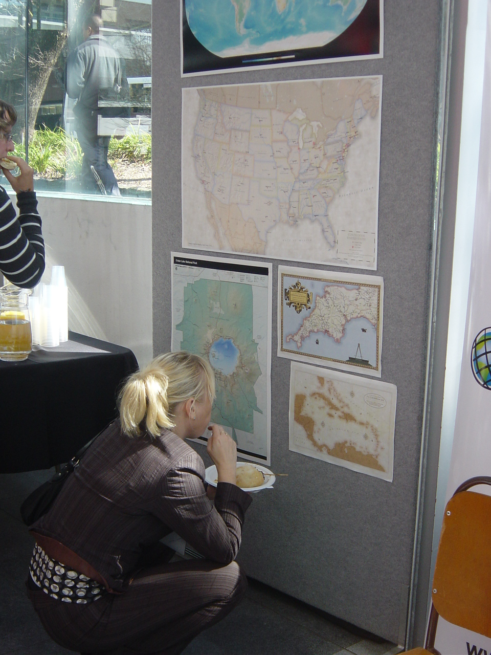 map exhibition was relatively small but maps very interesting probably the niwa s map got most attention but health atlas of england and wales