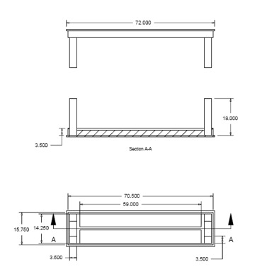 benches indoors plans