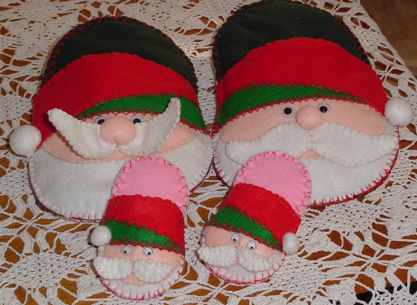 La tavolozza di pannolenci dicembre 2010 for Pantofole natalizie