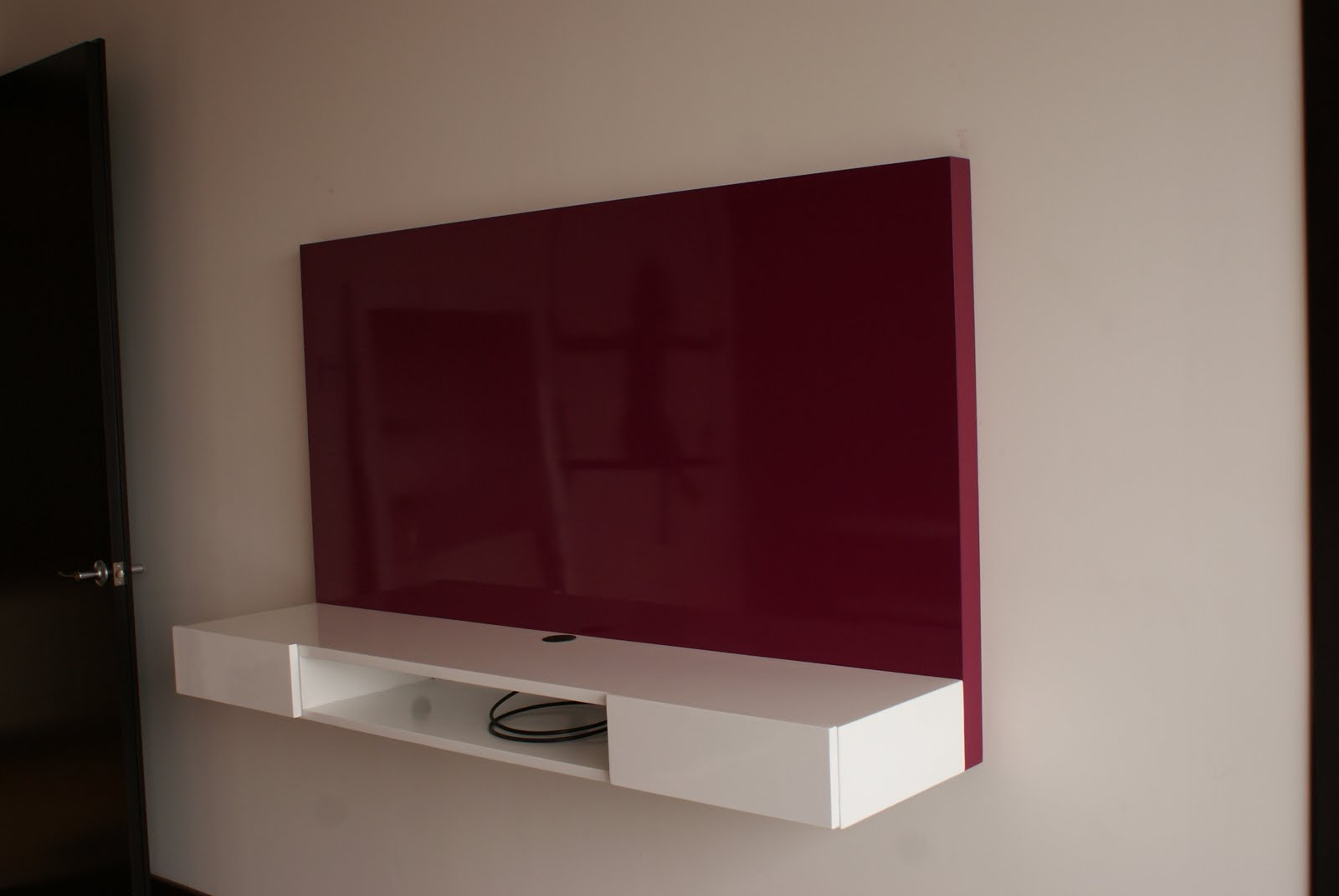 Mueble Tv Pared Elemento De Pared Tv Colored Horizontal O  # Mueble Soporte Tv Diseno