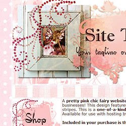 You can find premade OOAK fairy shabby chic website designs at Fairies &  Fantasy Art by Emma Marlow.