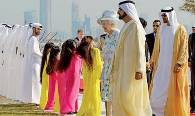 Queen Elizabeth, His Highness Shaikh Mohammed bin Rashid Al Maktoum,