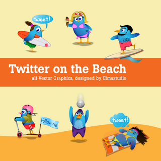 Free Twitter Beach Bird Icons