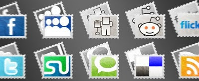 Free Stamp Social Media Icons