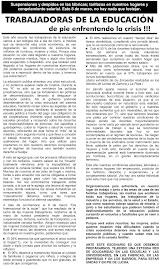 TRABAJADORAS DE LA EDUCACION