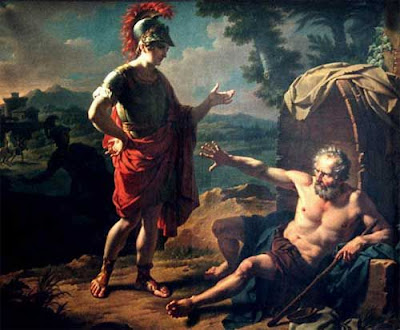 alejandro y diogenes