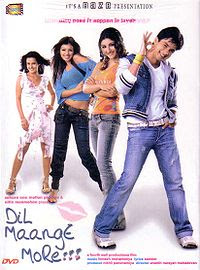 Dil Maange More!!! (2004 - movie_langauge) - Shahid Kapoor, Ayesha Takia, Soha Ali Khan, Tulip Joshi, Kanwaljit Singh, Zarina Wahab, Smita Jaykar, Gulshan Grover, A K Hangal, Hiten Paintal, Suhas Khandke, Firdaus Mewawala, Sanjana, Homi Wadia