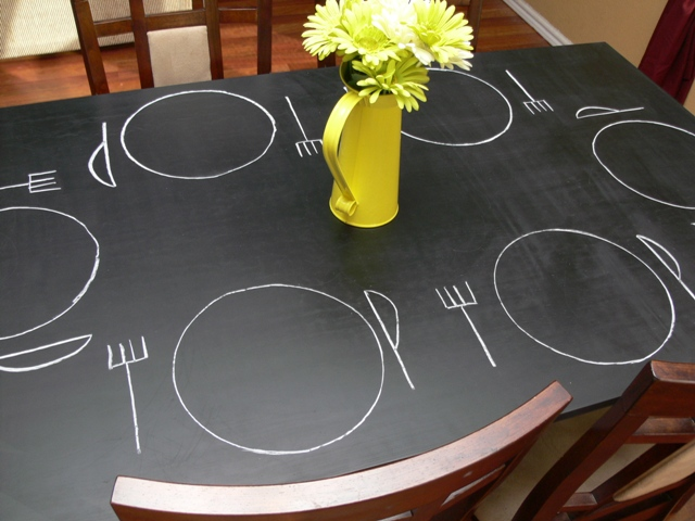 [How To Tuesday]: Chalkboard Table