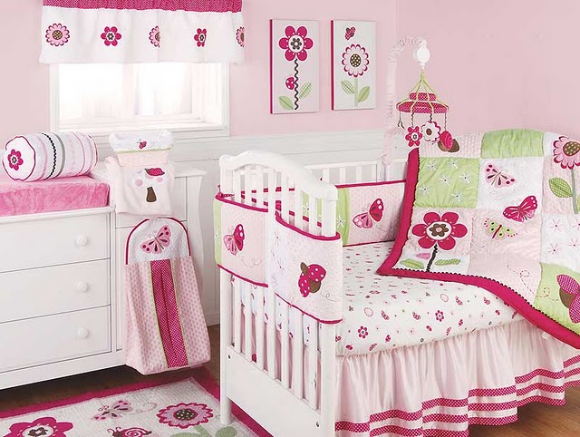 Cute baby girls room home design Infant girl room ideas