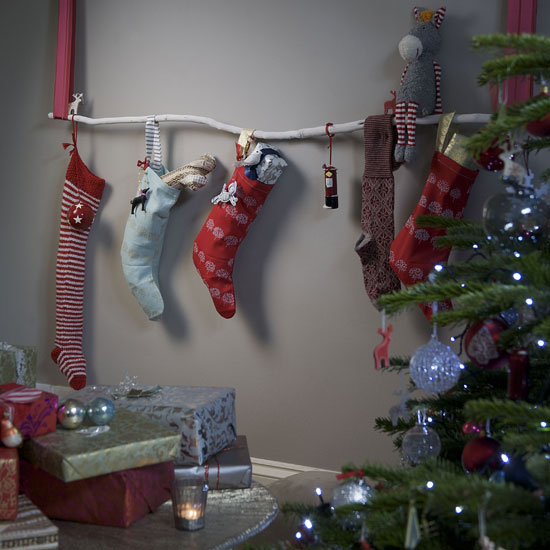 christmas stocking ideas on branch quirky decoration idea christmas